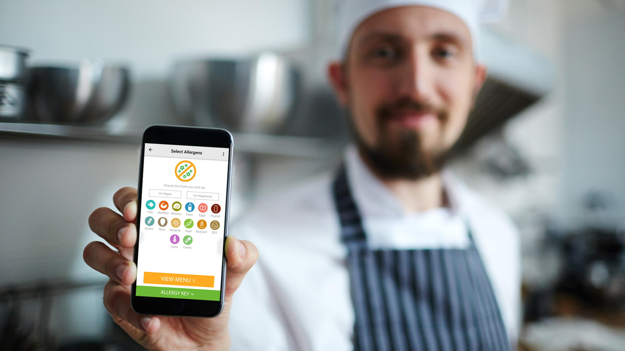 Chef with Allergy Menu App